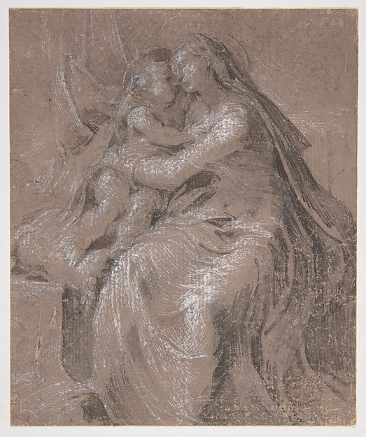 Madonna and Child (recto); Head of the Young Saint John The Baptist (verso)