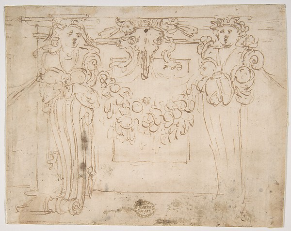"Sketch for a panel in the ""Sala Paolina,"" Castel Sant' Angelo"