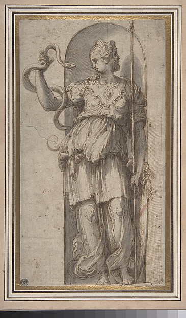 Study for Allegorical Figure of Prudence
