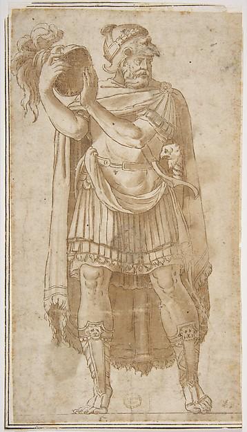 Fascinating Historical Picture of Polidoro da Caravaggio with Soldier in 1499