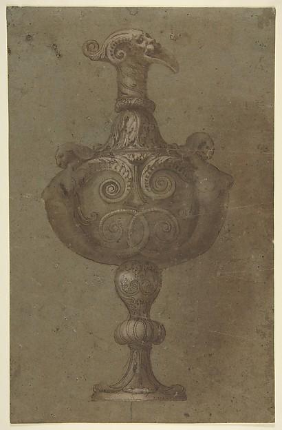 Fascinating Historical Picture of Polidoro da Caravaggio with Design for a Vase in 1499