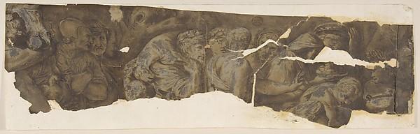 Fascinating Historical Picture of Polidoro da Caravaggio with Roman Procession in 1499