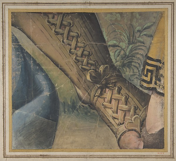 Fragment of a Tapestry Cartoon: Foot in a Buskin, Drapery, and a Plant