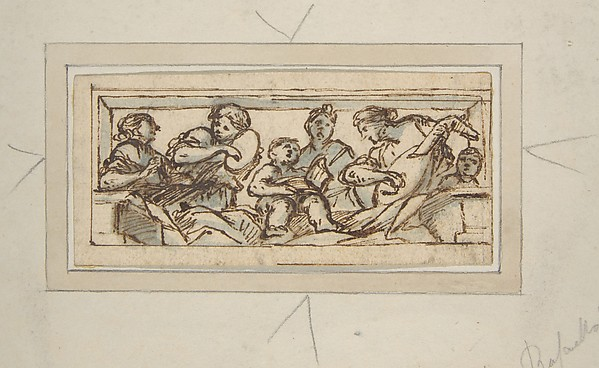 This is What Giovanni Francesco Romanelli and Six Music-Making Figures Looked Like  in 1610