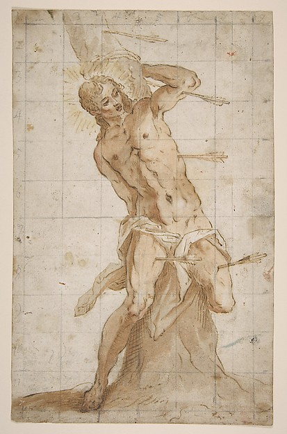 Fascinating Historical Picture of Hans Friedrich Schorer with Saint Sebastian in 1620