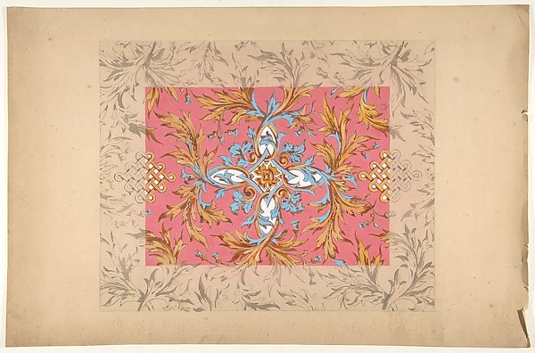 Design for a ceiling with floral design
