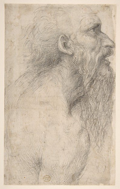 Bust of a Man with Long Beard (recto)