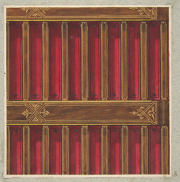 Design for the decoration of a beamed ceiling