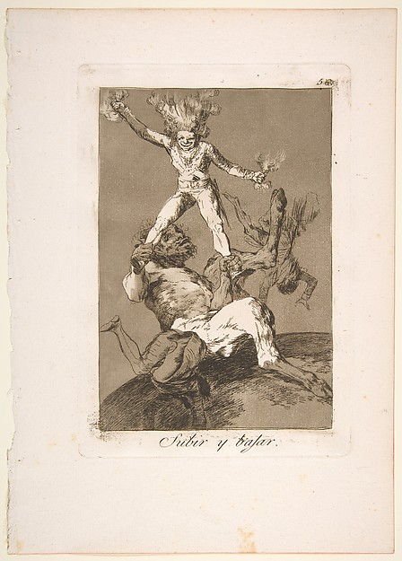 Plate 56 from 'Los Caprichos': To rise and to fall (Subir y bajar.)