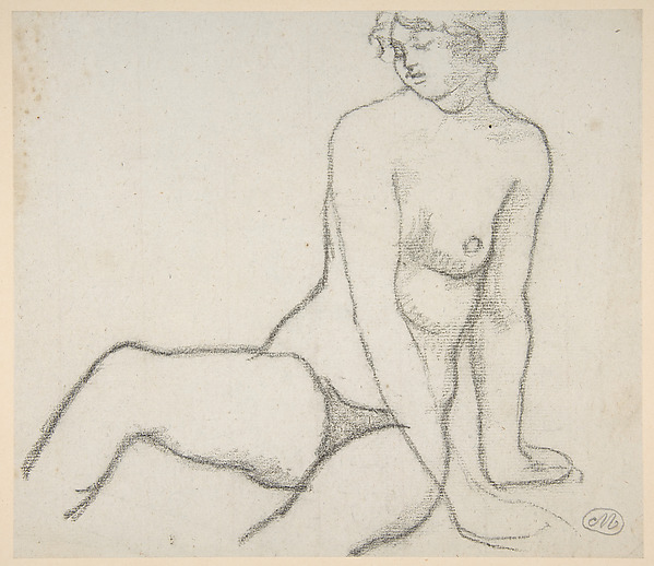 Seated Nude Leaning on Her Left Hand