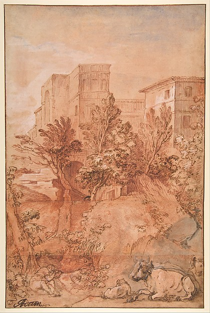 Landscape with a Large Villa on a Hilltop
