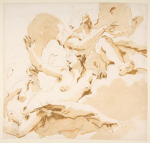 Three Winged Female Figures