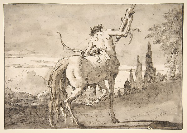 Centaur Holding Up a Quiver