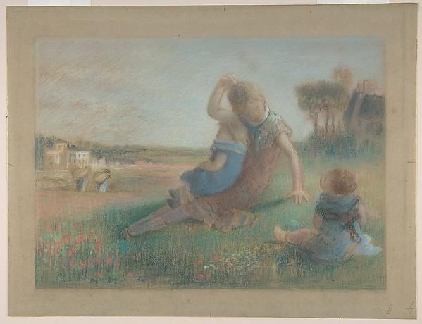 Three Children in a Landscape