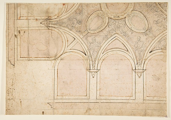 Design for the Ceiling Decoration in Vasari's House in Arezzo