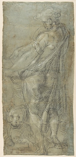 Saint John the Evangelist (recto; Cartoon for a Fresco); Saint Mark (verso; Cartoon for a Fresco).