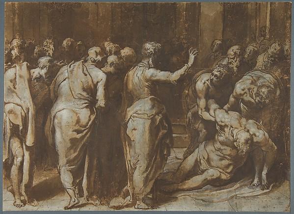 Saint Paul Restoring Eutychus to Life