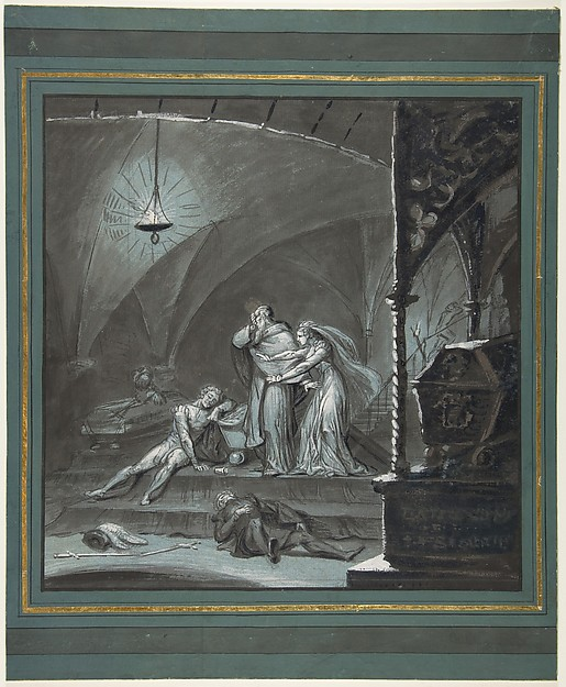 Discovery of the Dead Groom in the Tomb, from Hamlet