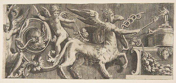 Ornamental Frieze with winged Centaur