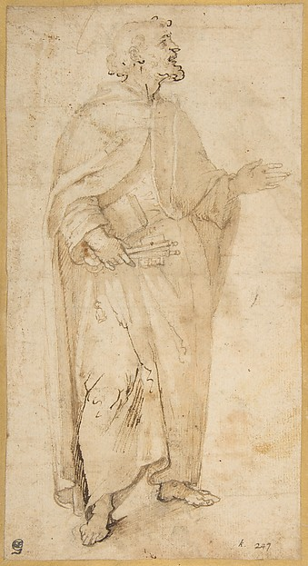 This is What Giovanni de Vecchi and Standing Figure of Saint Peter Holding Book and Keys. Looked Like  in 1536