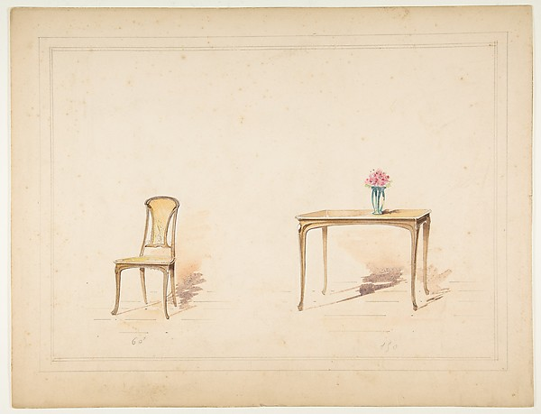 Designs for an Art Nouveau Table and Chair