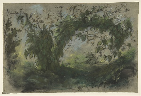 "Arch of Morning Glories, study for "" A Basket of Flowers"""