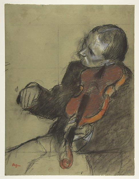"Violinist, Study for ""The Dance Lesson"""