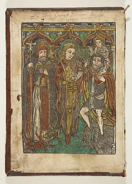 Saints Anthony, Sebastian and Christopher