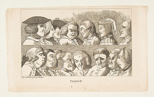 Fascinating Historical Picture of  with Plate IV from Rules for Drawing Caricaturas on 2/26/1788