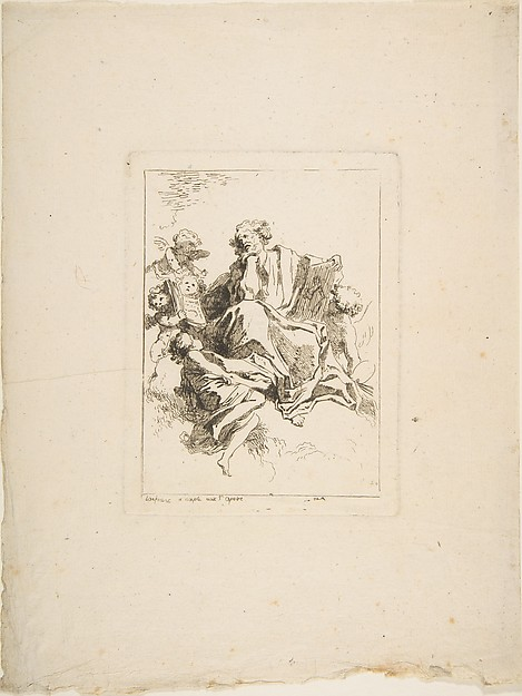 This is What Jean Honor Fragonard and Saint Luke Looked Like  in 1764