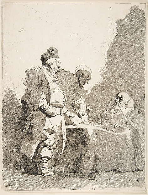 Fascinating Historical Picture of Jean Honor Fragonard with The Tax Collectors (Les Traitants) in 1778