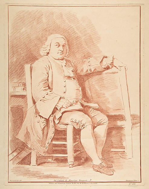 Fascinating Historical Picture of Jean Honor Fragonard with Portrait de Bergeret in 1770