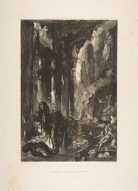 The Head and the Tail of the Serpent, from the Fables of La Fontaine