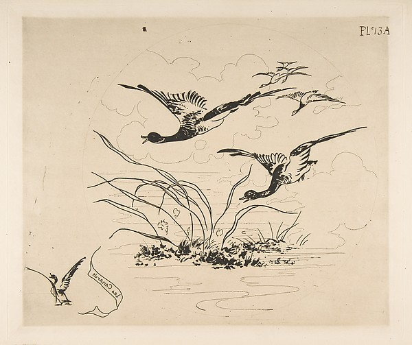 Ducks (Decoration for a Plate)