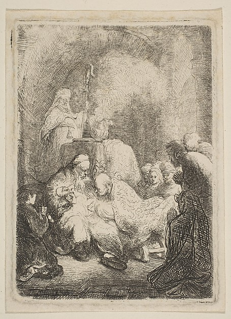 Fascinating Historical Picture of Rembrandt with The Circumcision| Small Plate in 1630