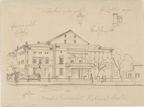 Study of the Nationaltheater, Berlin