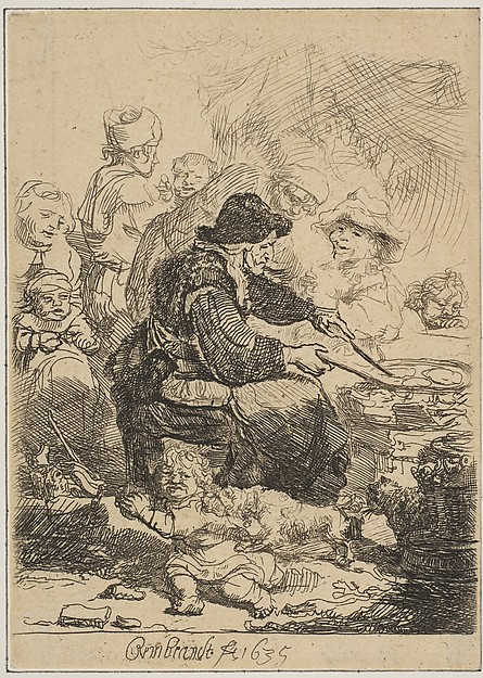 This is What Rembrandt and The Pancake Woman Looked Like  in 1635