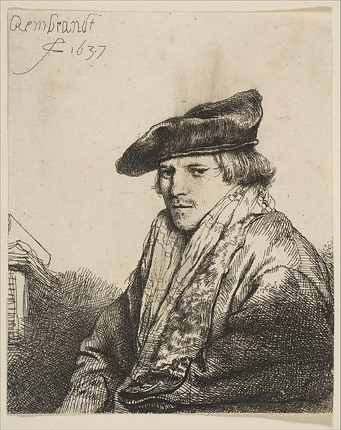 Young Man in a Velvet Cap (Ferdinand Bol)