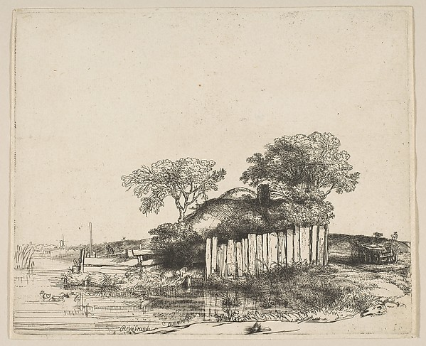 Cottage with a White Paling