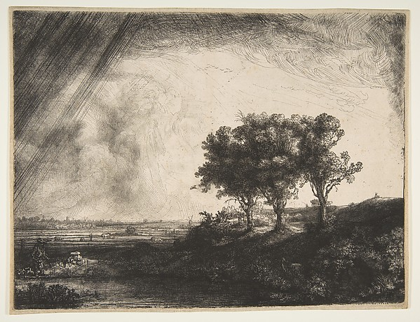 This is What Rembrandt and The Three Trees Looked Like  in 1643