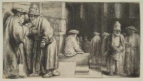Jews in a Synagogue