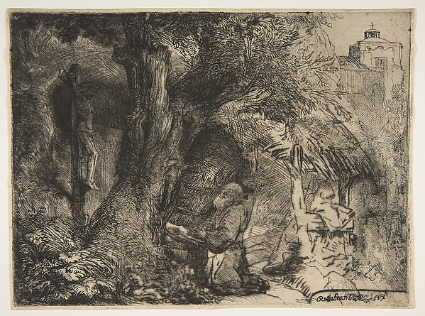 Saint Francis beneath a Tree, Praying