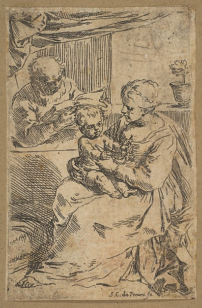Holy Family with a Rosary