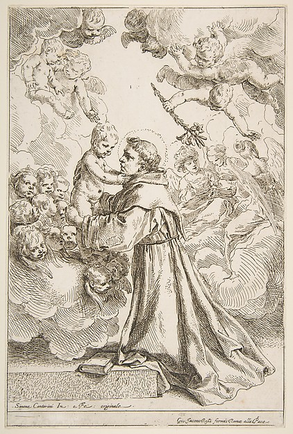 Saint Anthony of Padua Adoring the Christ Child in Glory