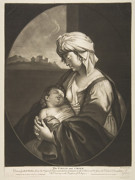 Fascinating Historical Picture of Robert Laurie with Virgin and Child in 1772