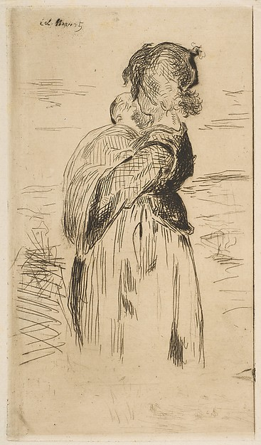 This is What douard Manet and The Little Girl Looked Like  in 1861