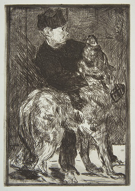 This is What douard Manet and Boy and Dog Looked Like  in 1862