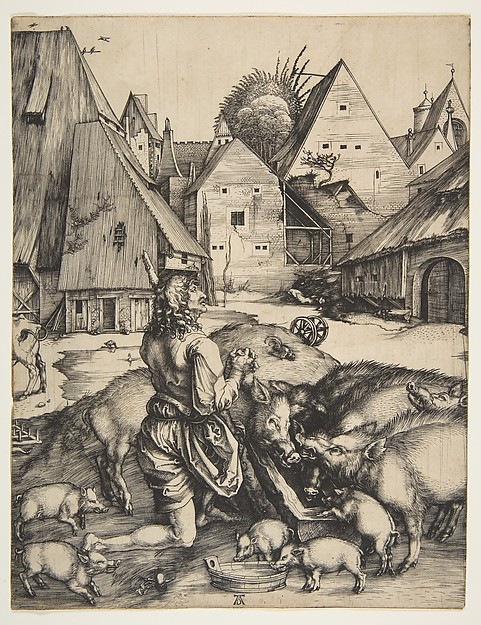 Fascinating Historical Picture of Albrecht Drer with The Prodigal Son in 1496
