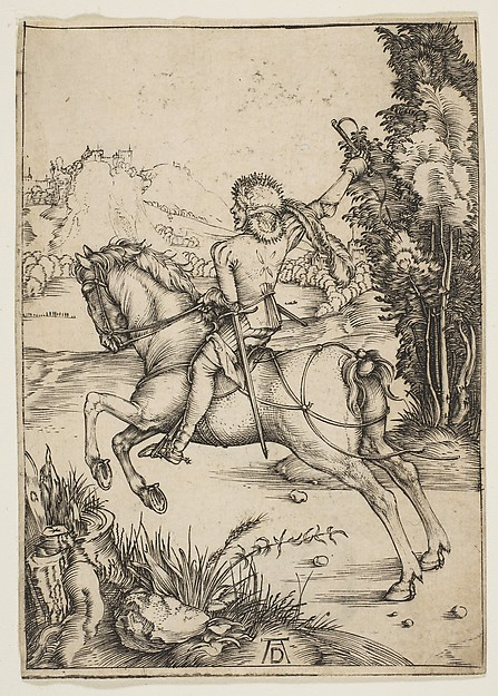 Fascinating Historical Picture of Albrecht Drer with The Little Courier in 1496
