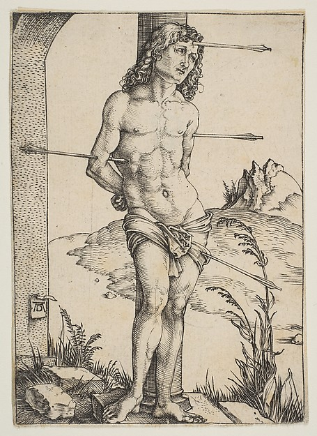Fascinating Historical Picture of Albrecht Drer with Saint Sebastian Bound to the Column in 1499